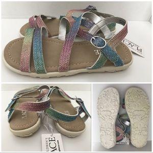 Children's Place Rainbow Sandals Size 12 NWT